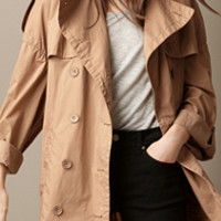 Oversize Dropped Shoulder Trench Coat