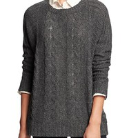 Factory Oversized Cable Knit Sweater