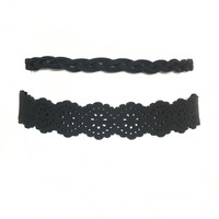 Two Is Better Than One Choker Set In Black