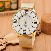 Womens Classic Casual Sports Watches Girl Hight Quality Gold Alloy Strap Watch Best Christmas Gift 402
