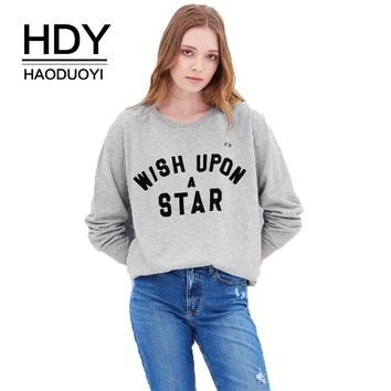 Fashion Grey Casual Sweatshirt Women Long Sleeve Letters Printed Basic Chic Loose Pullovers Female Tops Lady