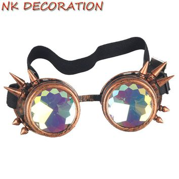 NK Brand New Kaleidoscope Sunglasses Men Women Designer Kaleidoscope Lens Glasses Steampunk Sunglasses Cosplay Goggles