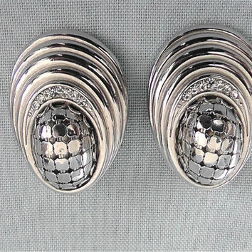 Vintage Whiting and Davis Silver Earrings