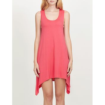 Lightweight Sleeveless Handkerchief Hem Tunic Top (CLEARANCE)