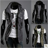 Winter Cotton With Pocket Men Sleeveless Hot Sale Jacket [6528920451]
