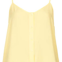 Button Front Strappy Cami - Citrus