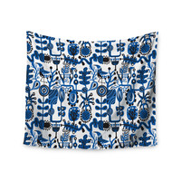 "Agnes Schugardt ""Dream"" Blue White Wall Tapestry"