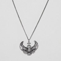 Reclaimed Vintage Inspired Bird Pendant Necklace In Silver Exclusive To ASOS at asos.com