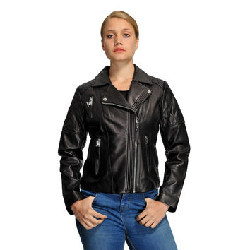 Mason & Cooper Haley Leather Jacket | Overstock.com Shopping - The Best Deals on Jackets