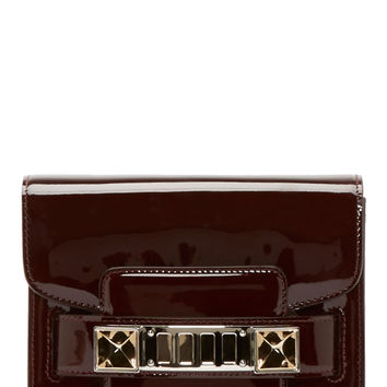 Proenza Schouler Pinot Noire Burgundy Patent Ps11 Tiny Shoulder Bag