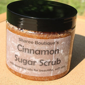 Cinnamon Sugar Scrub with Essential Oils - Large Tub