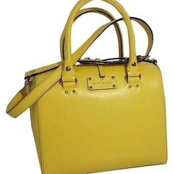 Kate Spade Wellesley Alessa Limoncello Leather Crossbody Satchel