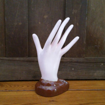 Vintage Porcelain Hand Figure Display Ring Holder