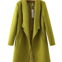 Drop Lapel Open Front Coat