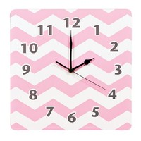 Trend Lab Chevron Wall Clock (Pink)