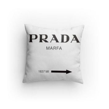 Fashion Prada Inspired Decorative Pillow
