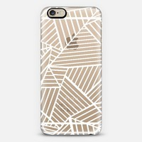 Abstraction Zoom White Transparent iPhone 6 case by Project M | Casetify