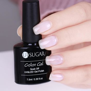 UR SUGAR 7.5ml Opal Jelly Gel Polish White Soak Off Varnish Lacquer Long Lasting Nail Gel Manicure Nail Art UV Gel
