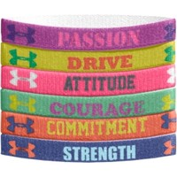 Under Armour Girls' Mini Graphic Wristbands