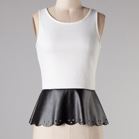 Peplum with a Touch of Leather