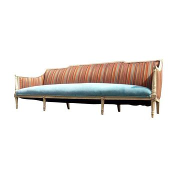 Pre-owned French Provincial Louis XV Style Full Size Sofa