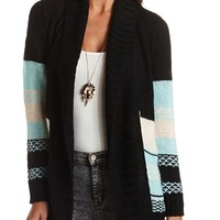 CHUNKY AZTEC CARDIGAN SWEATER