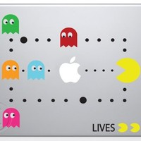 Cool Stuff - Pac Man Scene Macbook Decal Mac Apple skin sticker