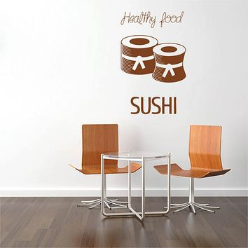 ik2773 Wall Decal Sticker Asian food sushi Japanese restaurant stained glass