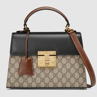 Gucci Padlock small GG top handle bag