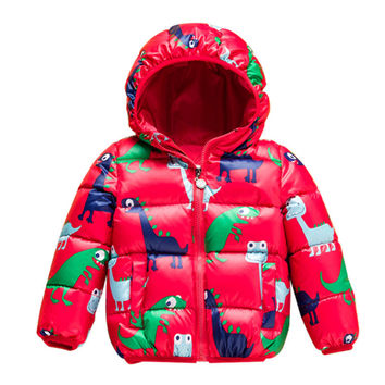 Brand SK 24M-8T Winter White Duck Down Graffiti Coat for Girls 2016 Fashion Children Clothing Girls Boys Down Jackets Outwear