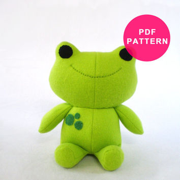Plushie Sewing Pattern Frog Plush Pattern