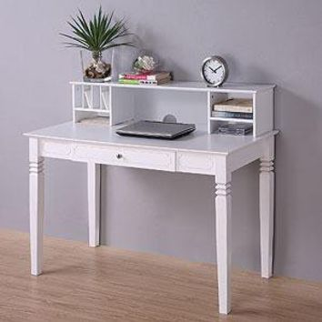 Douglas Desk with Hutch, White  - Desks - Cost Plus World Market