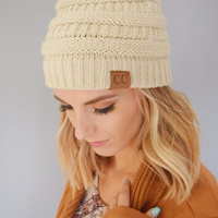 Powder Day Beanie Beige