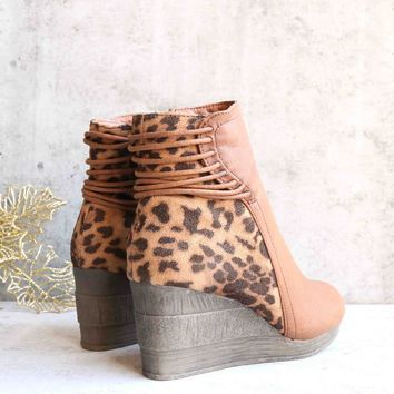 Sbicca Vintage Collection - Alexandria  Strappy Wedge Bootie - Tan