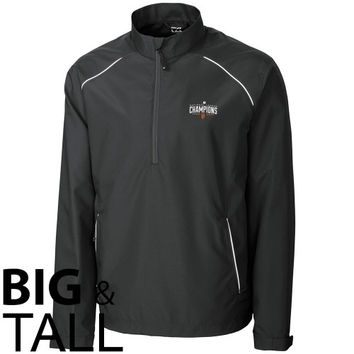 San Francisco Giants Cutter & Buck 2014 MLB National League Champions Beacon Big & Tall 1/2 Zip Jacket - Black