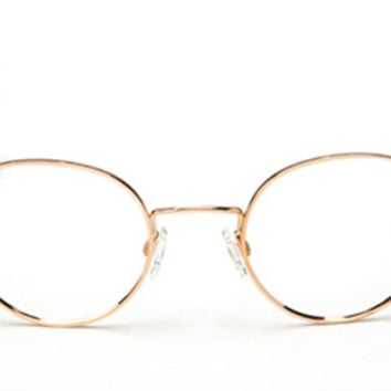Randolph - P-3 23k Gold Plated RX Glasses, Cable Temple w/ Clear Demo Lenses