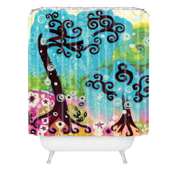 Natasha Wescoat Coastal Glimmer Shower Curtain