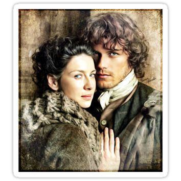 'Jamie & Claire' Sticker by genoacedo