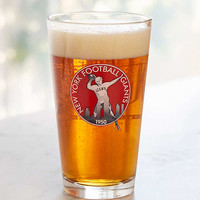 NFL Vintage Logo Pint Glass | Urban Outfitters