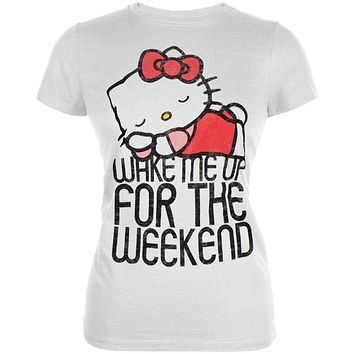 66553e1477fe3 Hello Kitty - Nice Nap Burnout Juniors T-Shirt