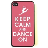 Iphone 5c Case - Hard Case Protective Iphone 5c Case- Keep Calm Dance on + Free Wristband Accessory