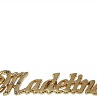 Name Necklaces Madeline - Personalized Necklace Gold Plated 18K, Belcher Chain, 2mm Thick