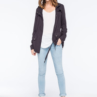 ASHLEY Button Flap Womens Anorak Jacket | Jackets