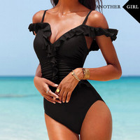 new push up swimwear women bathing suit one piece swimsuit solid swimming suit for women sexy swimwear female beach wear