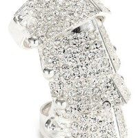 Vivienne Westwood Diamante Sterling Silver Armor Ring