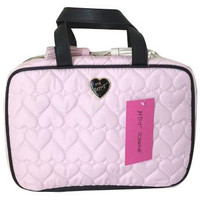 Betsey Johnson Cosmo Large Pink/White Train/Cosmetic Case
