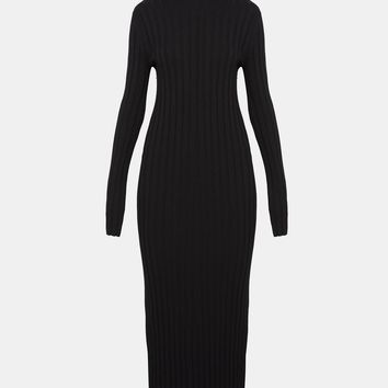 Long-Sleeve Mockneck Dress