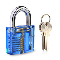 Padlock, Yokkao® Practice Lock Inside view of Blue Training Trainer Skill Pick for Locksmith with 2 Keys