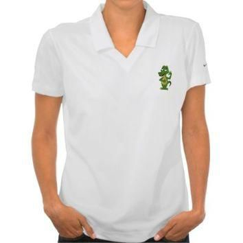 Polo shirt with alligator or crocodile cartoon