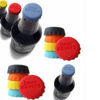 10Pcs New Silicone Bottle Cap Cover Lid Stopper Cork Wine Glass Beer Saver Capsule Fresh = 1958208644